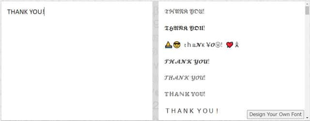 リンゴジャム(THANK YOU!と入力したところ)