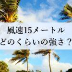 風速15メートル どのくらいの強さ?